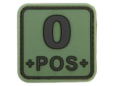 JTG Bloodtype Square Rubber Patch 0 pos