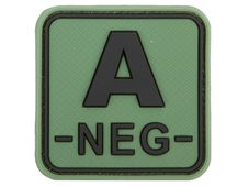 JTG Bloodtype Square Rubber Patch A neg