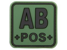 JTG Bloodtype Square Rubber Patch AB pos