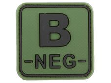 JTG Bloodtype Square Rubber Patch B neg