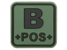 JTG Bloodtype Square Rubber Patch B pos